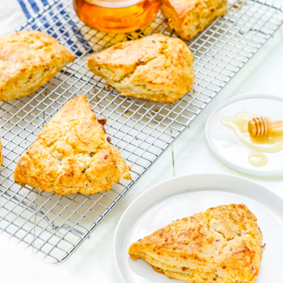 Honey Bacon-Cheddar Scones