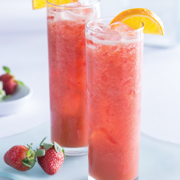 Honey Strawberry Tea Cooler