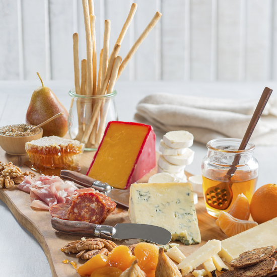 Honey Fruit and Cheese Board Vertical Honey Fruit and Cheese Board Vertical