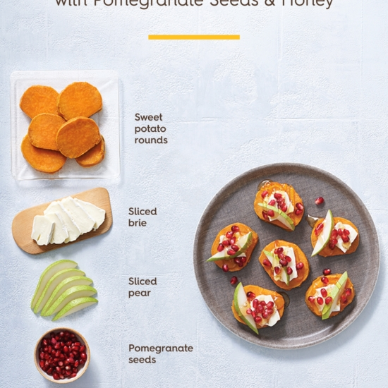 Sweet Potato Rounds with ingredients