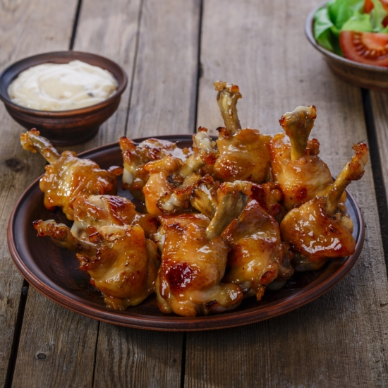 Curried honey glazed chicken wings