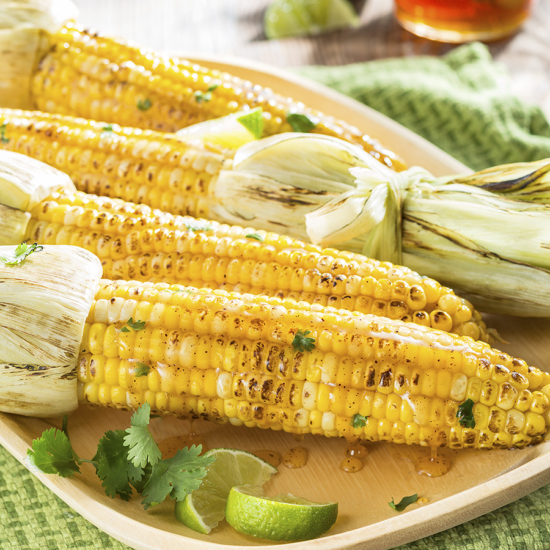Grilled corn with spiced honey butter
